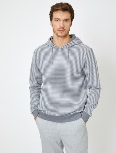Koton Kapüşonlu Sweatshirt Gri